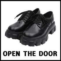 [OPEN THE DOOR]人気厚底2020 cow hide ugly loafer