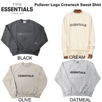 Fear of God- Essentials Pull Over Logo Crewneck Sweat Shirts