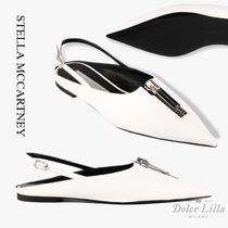 STELLA MCCARTNEY Slingback with zip white