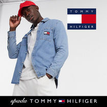 SALE【Tommy Jeans】長袖 ロゴ デニムシャツ ライト / 送料無料