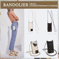 【BANDOLIER】Sheila Pyramid Embossed Crossbody