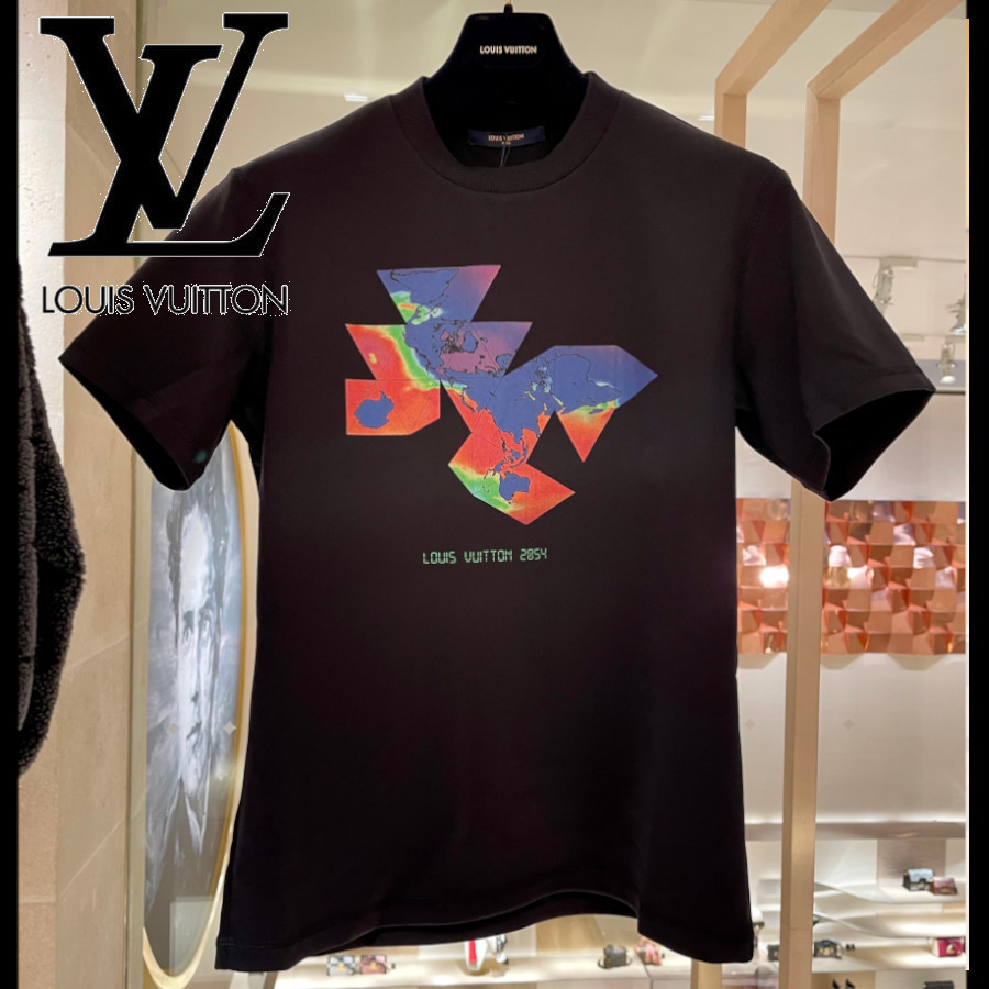 【LOUIS VUITTON】フラワープリントTシャツ 2054 トップス (Louis Vuitton/Tシャツ・カットソー) 1A8H30  1A8H31  1A8H32