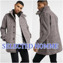 SELECTED(セレクトテッド) コートその他 【送料込み】*SELECTED HOMME* ウールMIX 立ち襟チェックコート