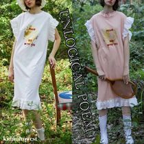 Lace Embroidered T-Shirt Dress☆フェミニンなフリル♪♪