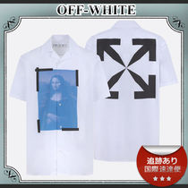 21SS/送料込≪OFF-WHITE≫ MONALISA HOLIDAY ロゴ シャツ