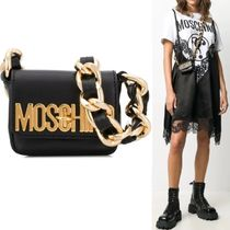 【Moschino】Gold Logo & Chain Micro Bag ブラック