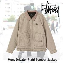 NEW!!在庫僅か!!【STUSSY】Mens Drizzler Plaid Bomber Jacket