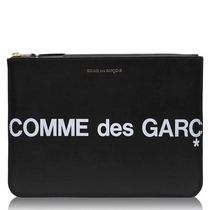 ★Comme des Garcons★ロゴクラッチバッグ-黒