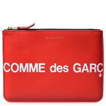 ★Comme des Garcons★ロゴクラッチバッグ-赤