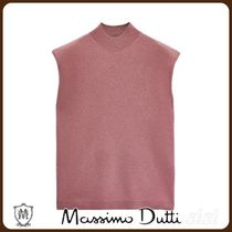 MassimoDutti♪CASHMERE WOOL KNIT SWEATER WITH SHOULDER PADS