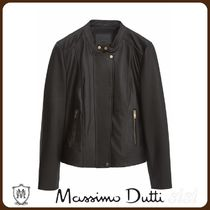 MassimoDutti♪BLACK NAPPA LEATHER JACKET