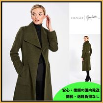 セレブ愛用 SENTALER LONG WIDE COLLAR ラップコート Army Green
