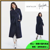 セレブ愛用 SENTALER BOUCLE ALPACA LONG WIDE COLLAR WRAP COAT