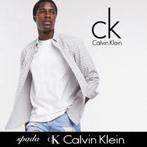 SALE【Calvin Klein】長袖 プリント シャツ グレー / 送料無料