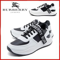 ◆BURBERRY◆Logo Detail Leather and Nylon Sneakers◆正規品◆
