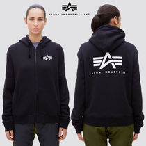 ALPHA INDUSTRIES(アルファ インダストリーズ) パーカー・フーディ [ALPHA INDUSTRIES] SMALL LOGO HULL-ZIP HOODIE [2Color]