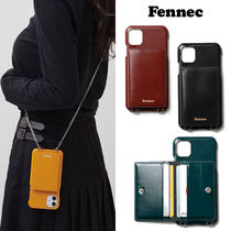 ★FENNEC★本革 韓国 LEATHER iPHONE 11PRO STRAP POCKET CASE