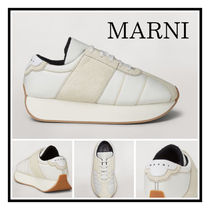 MARNI BIG FOOT SNEAKER IN LEATHER ツートン ラバーソール WT