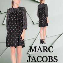SALE☆【MARC JACOBS】シルク 花柄 ベルベット素材ワンピース