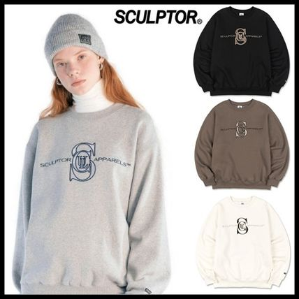 ☆SCULPTOR☆ スウェット Satin Applique Sweatshirt