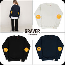 [GRAVER]★韓国大人気★Elbow Dot Smile Clip Sweatshirt