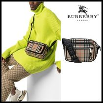 ☆BURBERRY☆ Vintage Check and Leather Crossbody Bag 人気!