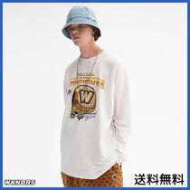 [WKNDRS] COLLEGE RING LS T-SHIRT (WHITE)