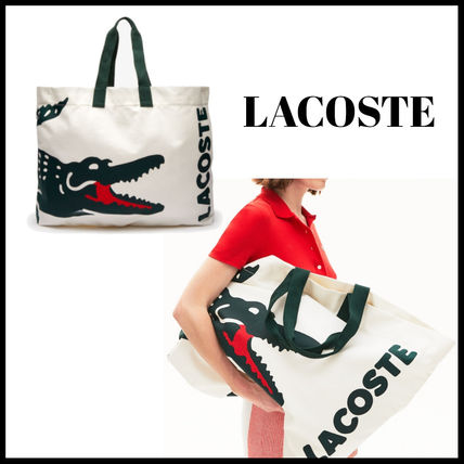 SALE!! LACOSTE★ビッグロゴトートバッグ★旅行にも最適