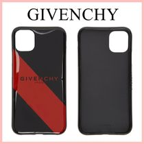 GIVENCHY iPhone11 ケース ストライプ ロゴ Black/Red 送料込み