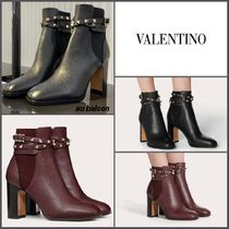 【直営店】 ヴァレンティノ ROCKSTUD CALFSKIN ANKLE BOOT 90 MM