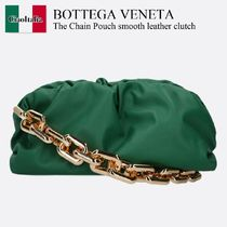 Bottega Veneta The Chain Pouch smooth leather clutch