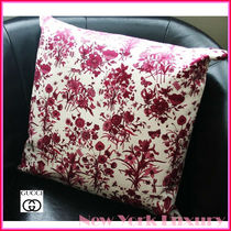 "GUCCI★素敵!FLORA floral Decorative Pillow 13"" White&Purple"