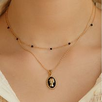 ●●韓国アクセサリー●●ROAJU black elizabeth necklace♪