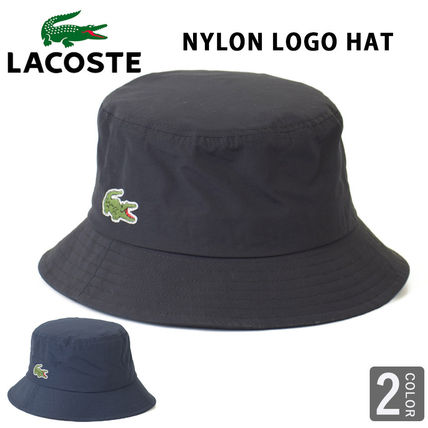LACOSTE ラコステ ナイロン ロゴ バケットハット ハット ラコ