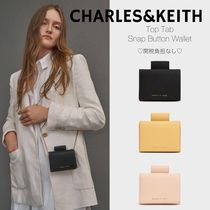 日本未入荷/送関込☆CHARLES&KEITH Top Tab Snap Button Wallet
