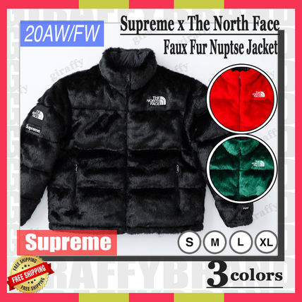Supreme アウターその他 【20AW/FW】SUPREME x The North Face Faux Fur Nuptse Jacket