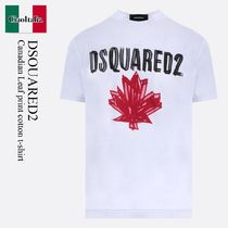 Dsquared2 Canadian Leaf print cotton t-shirt