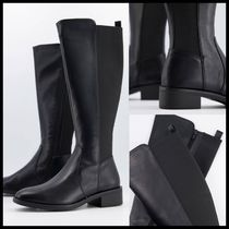 New Look knee high leather look boots
