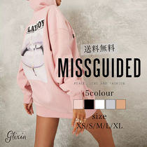 MISSGUIDED×playboy ワンピース プリント パーカー ミニ
