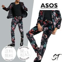 ASOS Twisted Tailor 花柄のベルベットスーツセット 関税込み