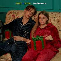 【SPAO×HOME ALONe】パジャマ navy/red