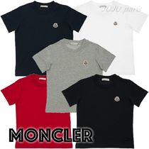 MONCLER(モンクレール) キッズ用トップス 大人OK★Moncler★2021SS★胸ワッペン半袖Tシャツ★12/14A