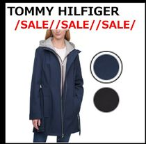 【TOMMY HILFIGER】//SALE// Hoodie-Lined ベルト付レインコート