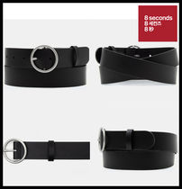 【8seconds】Black Basic O-ring Casual Belt ★安全配送★