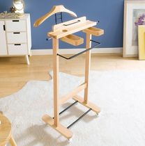 Solid Beech Wood Suit Stand 夜の木のハンガー