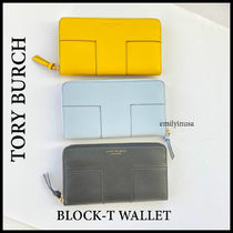 レア品+関税込 TORY BURCH★BLOCK-T WALLET 長財布