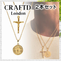 【CRAFTD LONDON】2点セット コンパス  十字架 ネックレス