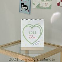 MAZZZZY★韓国★人気 2021 love colors calendar 卓上カレンダー