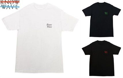 20SS LA発ストリート Know Wave  ☆SERIF POCKET T