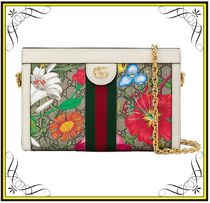 【GUCCI】Ophidia GG Flora Small Shoulder Bag White
